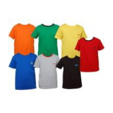 Deals, Discounts & Offers on Men Clothing - Little Star Combo Of Seven Multicolour Half Sleeve T Shirt