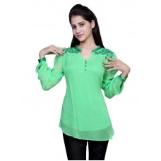 Deals, Discounts & Offers on Women Clothing - Apparel Green Top For Women