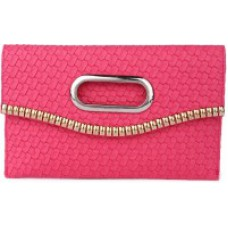 Deals, Discounts & Offers on Women - D AUSTIN KING Casual Pink FABRIC Clutch