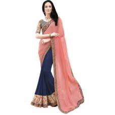 Deals, Discounts & Offers on Women Clothing - Shree Vardhman Printed Bollywood Georgette Sari