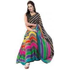 Deals, Discounts & Offers on Women Clothing - Sunita Sarees Striped Mysore Art Silk Sari