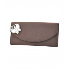 Deals, Discounts & Offers on Accessories - Butterflies Non Leather Brown Women Long Wallet