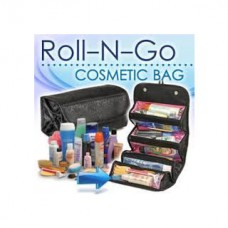 Deals, Discounts & Offers on Health & Personal Care - Roll-N-Go Black Cosmetic Bag Toiletry Jewelery Organizer