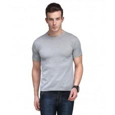 Deals, Discounts & Offers on Men Clothing - Scott International Grey Cotton Regular Fit T Shirt
