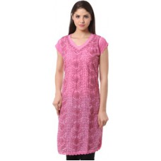 Deals, Discounts & Offers on Women Clothing - Saadgi Casual Embroidered Women's Kurti