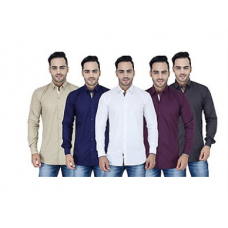 Deals, Discounts & Offers on Men Clothing - Combo Of 5 Men Plain Shirts @1499- Flat 70% off
