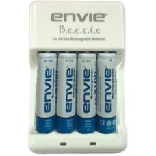 Deals, Discounts & Offers on Accessories - Envie Beetle Charger ECR-20 + 4xAA 1000 Ni-Cd Battery Camera Battery Charger