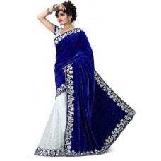 Deals, Discounts & Offers on Women Clothing - Shree Sai NX Embriodered Fashion Velvet Sari