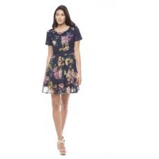 Deals, Discounts & Offers on Women Clothing - Shuffle Women's A-line Blue Dress