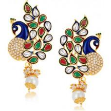 Deals, Discounts & Offers on Women - Sukkhi Charming Peacock Alloy Drop Earring