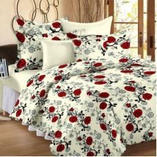 Deals, Discounts & Offers on Home Decor & Festive Needs -  Home Cotton Floral Double Bedsheet