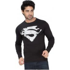Deals, Discounts & Offers on Men Clothing - Alan Jones Graphic Print Men's Round Neck Black T-Shirt