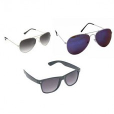 Deals, Discounts & Offers on Men - Aura-Combo of 3 UV Protection Sunglasses for Men