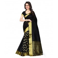 Deals, Discounts & Offers on Women Clothing - Flat 63% off on Stylefabs Black Cotton Saree