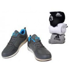 Deals, Discounts & Offers on Foot Wear - Buy Grey Ncs Sports Shoes And Get 3 Pairs Of Socks Free