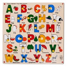Deals, Discounts & Offers on Baby & Kids - Skillofun Capital Alphabet Tray with Picture with Knobs