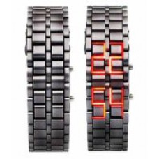 Deals, Discounts & Offers on Men - Sams Black Rectangular Metal Strap Digital Watch