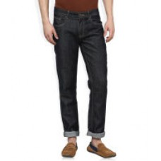 Deals, Discounts & Offers on Men Clothing - Newport Black Raw Denim Slim Fit Jeans