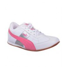 Deals, Discounts & Offers on Foot Wear - Puma Esito White Pink Shoes for Kids
