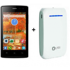 Deals, Discounts & Offers on Mobiles - Combo Of Wham Wk44 4 Inch 1.3ghz Mobile Phone And Xuperb 10400 mAh Power Bank