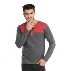 Deals, Discounts & Offers on Men Clothing - Leana Grey Henley T Shirt
