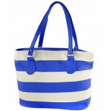 Deals, Discounts & Offers on Accessories - Smartways Leather Shoulder Bag-blue & Beige