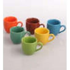 Deals, Discounts & Offers on Home Decor & Festive Needs - AION Multicolor Ceramic 100ML Tea Cup - Set of 6