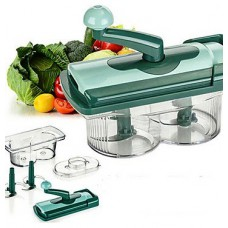 Deals, Discounts & Offers on Home & Kitchen - Home Creations 6 Pcs Green Plastic Fusion Vegetable Chopper Set