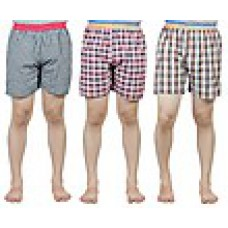 Deals, Discounts & Offers on Men Clothing - Combo Of 3 Checkered Men Shorts@ 401