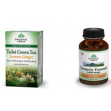 Deals, Discounts & Offers on Health & Personal Care - Organic India 5 Tulsi Green Tea Teabags Boxes