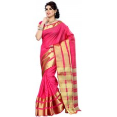 Deals, Discounts & Offers on Women Clothing - Mimosa Kanchipuram Sarees at 60% off