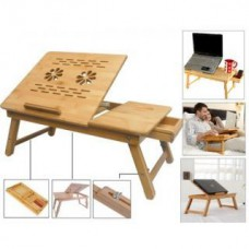 Deals, Discounts & Offers on Furniture - Multipurpose Foldable Wooden Laptop Table Cum Study Table