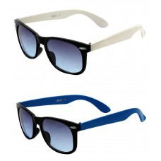 Deals, Discounts & Offers on Men - Mall 4 All Combo of White & Light Blue Wayfarer Sunglasses