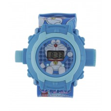 Deals, Discounts & Offers on Baby & Kids - Sams Blue Dial Digital Silicon Projector Kids Watch-24 Doraemon images