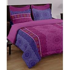 Deals, Discounts & Offers on Home Appliances - Bianca 3 Pcs Purple Cotton Double Bedsheet Set