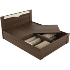 Deals, Discounts & Offers on Furniture - Spacewood Engineered Wood Queen Bed With Storage