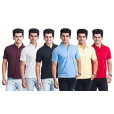 Deals, Discounts & Offers on Men Clothing - Eprilla Combo Of 6 Men T-Shirts