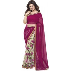 Deals, Discounts & Offers on Women Clothing - Arya Fashion Self Design Bollywood Georgette Sari