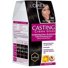 Deals, Discounts & Offers on Health & Personal Care - L'Oreal Paris Casting Creme Gloss, Darkest Brown 300, 87.5g+72ml