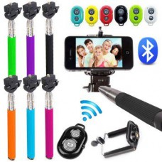 Deals, Discounts & Offers on Mobile Accessories - KS Selfy Selfie Stick With Bluetooth Remote - Android and iOS Phones