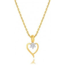 Deals, Discounts & Offers on Earings and Necklace - Nakshatra Designer 14K Yellow Gold 14K Diamond Gold Pendant