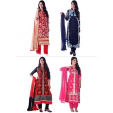Deals, Discounts & Offers on Women Clothing - Pick Any 1 Semi-Stitched Designer Suit
