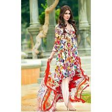Deals, Discounts & Offers on Women Clothing - Sai Arisha Multicolour Printed Pakistani Lawn Unstitched Suit
