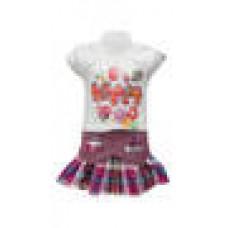 Deals, Discounts & Offers on Baby & Kids - Golden Girl Purple Top And Skirt Set