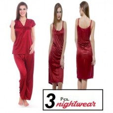 Deals, Discounts & Offers on Women Clothing - Paradise Night Wear Pack of 3