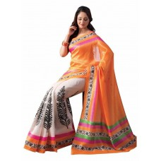 Deals, Discounts & Offers on Women Clothing - Synthetic Saree With Blouse Piece