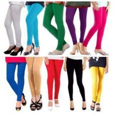 Deals, Discounts & Offers on Women Clothing - Set of 10 Multicolor Cotton Lycra leggings