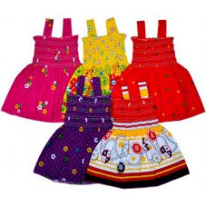 Deals, Discounts & Offers on Baby & Kids - Sathiyas Baby Girl's Gathered Multicolor Dress