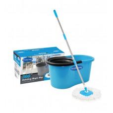 Deals, Discounts & Offers on Accessories - Primeway Blue and Black Plastic 360 Rotating Magic Mop
