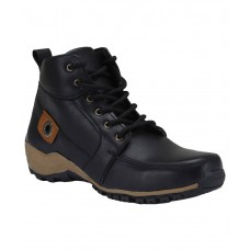 Deals, Discounts & Offers on Foot Wear - Bachini Black Faux Leather Ankle Boots
